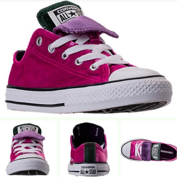 Girls Pink Velvet Chuck Taylor Converse sz 3 NWT